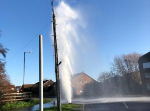 Thames Water dealing with burst water main in Slough