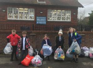 Cookham community news: children donate old clothes for Ethiopia
