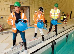 Guests get first look at Braywick Leisure Centre's 25-metre length pool