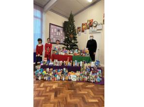 Burnham primary school collects donated items for project helping those in need