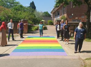 BCA unveils new rainbow crossing in support of LGBT Pride month