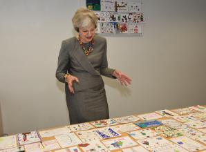 Theresa May MP picks her official Christmas card from competition entries