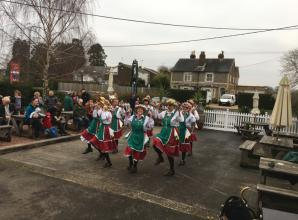 Taeppa's Tump Morris dancers put on New Years Day performance