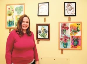 Cookham artist's works on display at day centre