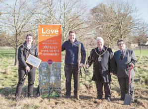 Council plant 20 trees at Dinton Pastures as part of climate action plan