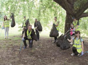 Maidenhead Rotaract litter pick spruces up Kidwells Park
