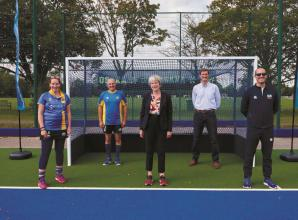 MP Theresa May opens new artificial pitch at Sonning Hockey Club